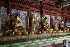 Pohyonsa Temple, DPRK (North Korea). Pohyonsa Buddhist Temple (1024 AD), DPRK (North Korea Stock Image