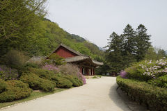 Pohyonsa Temple, DPRK (North Korea). Pohyonsa Buddhist Temple (1024 AD), DPRK (North Korea Stock Photo