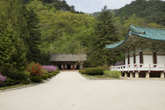 Pohyonsa Temple, DPRK (North Korea). Pohyonsa Buddhist Temple (1024 AD), DPRK (North Korea Royalty Free Stock Images