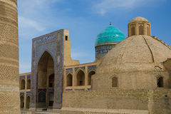 Poi Kalon Mosque Complex in Bukhara Stock Photo