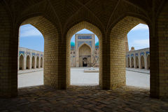 Poi Kalon Mosque Complex in Bukhara Stock Image