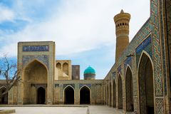 Poi Kalon Mosque Complex in Bukhara Stock Photography
