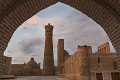Poi Kalon Mosque and Minaret in Bukhara. royalty free stock photos