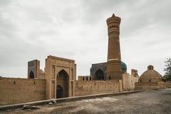 Poi Kalon Mosque and Minaret in Bukhara, Uzbekistan stock photos