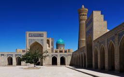 The Poi Kalyan architectural complex  in Bukhara, Uzbekistan Royalty Free Stock Photography