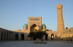 The Poi Kalyan complex in Bukhara, Uzbekistan Royalty Free Stock Photos