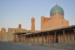 Poi Kalyan Mosque is located in the historical part of Bukhara. stock photography