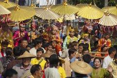 Poi Sang Long - Buddhist novice ordination royalty free stock photo