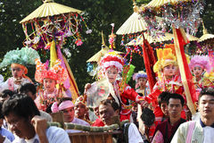 Poi Sang Long festival, A Ceremony of boys Stock Photo