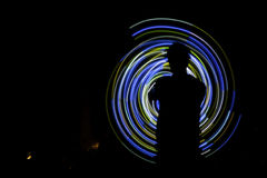 Poi spiral silhouette Royalty Free Stock Image