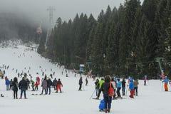 Poiana布拉索夫滑雪胜地 库存图片
