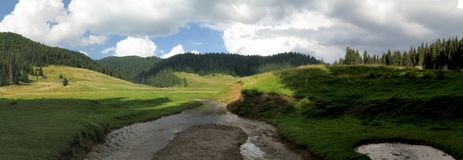 Poiana Ponor - valley in Bihor carst mountain  in Apuseni in Romania Stock Photography