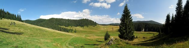 Poiana Ponor - valley in Bihor carst mountains in Apuseni in Romania Stock Image