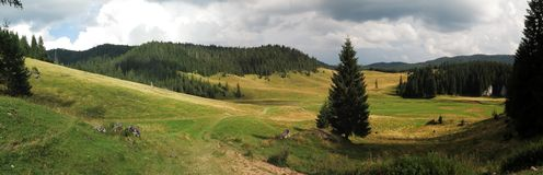 Poiana Ponor - valley in Bihor carst mountains in Apuseni in Romania Stock Photos
