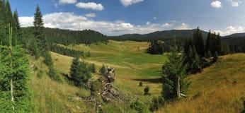 Poiana Ponor - valley in Bihor carst mountains in Apuseni in Romania Stock Photos