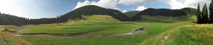 Poiana Ponor - valley in Bihor carst mountains in Apuseni in Romania Royalty Free Stock Photo