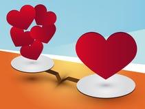 Poids de coeur Photo libre de droits
