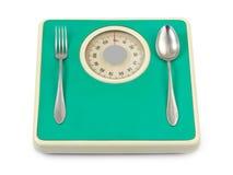 poids de cuillère d'échelle de fourchette Photographie stock libre de droits