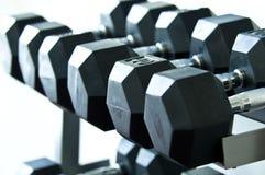 Poids de différentes tailles et de poids d'une gymnastique Image stock