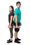 Poids de levage de couples ensemble Images libres de droits
