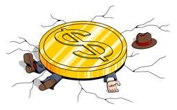 Poids du dollar Images libres de droits