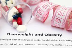Poids excessif et obésité Photographie stock