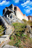 Poienari Festung Stockbild