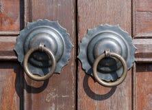 Poignée d'anneau de traction en métal Photographie stock libre de droits