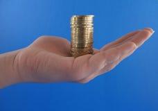 Poignée d'argent Photo stock
