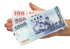 Poignée d'argent Image libre de droits