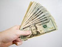 Poignée d'argent comptant Image libre de droits