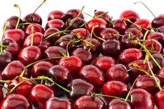 Poignée de cerises rouges Photo stock