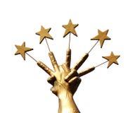 Poignée de cinq étoiles photo libre de droits