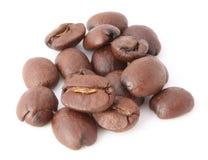 Poignée de grains de café Photographie stock libre de droits