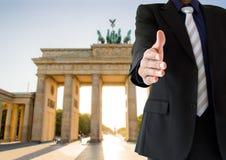 Poignée de main à Berlin Image stock