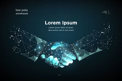 Poignée de main Blockchain Vecteur illustration libre de droits