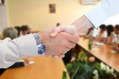 Poignée de main d'affaires Photo libre de droits