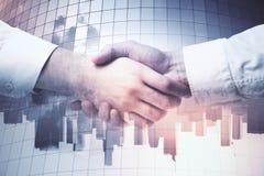 Poignée de main d'hommes d'affaires Image libre de droits