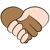 Poignée de main de coeur Images libres de droits