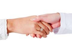 Poignée de main de dames d'affaires Images libres de droits