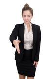 Poignée de main de femme d'affaires Image libre de droits