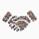 Poignée de main de forme de personnes de groupe Photo libre de droits