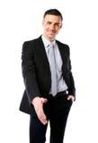 Poignée de main de offre de sourire d'homme d'affaires Image stock
