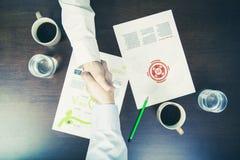 Poignée de main de réunion d'affaires Photographie stock libre de droits