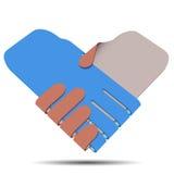 Poignée de main, illustration de vecteur Image stock