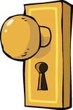 Poignée de porte illustration libre de droits