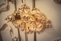 Poignée de porte baroque Image stock
