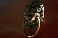 Poignée de porte de type chinois Image libre de droits
