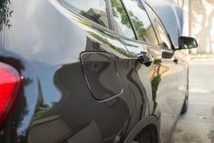 Poignée noire de voiture Image stock