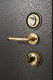 Poignée sur le doo de coffre-fort en métal Photos stock